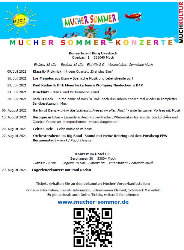 Mucher Sommer-Konzerte im Burghof