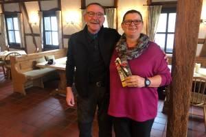 Karina und Andreas Schmitz - Sieger der Ehepaar-Clubmeisterschaft 2019