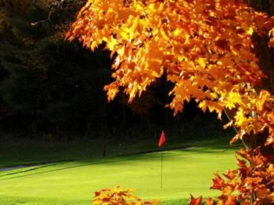 Golf im Herbst
