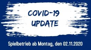 Regelung des Spielbetriebs ab Montag, den 02.11.2020 (Update)